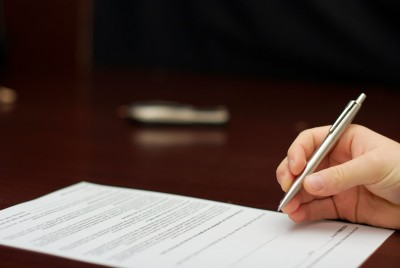 Signing a property management contract