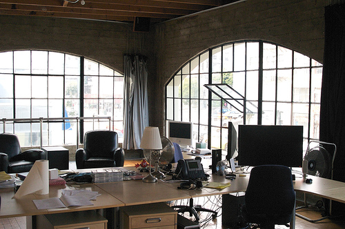Interior of a proprety management companies office